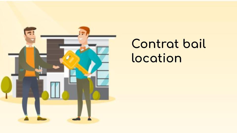 Contrat bail location