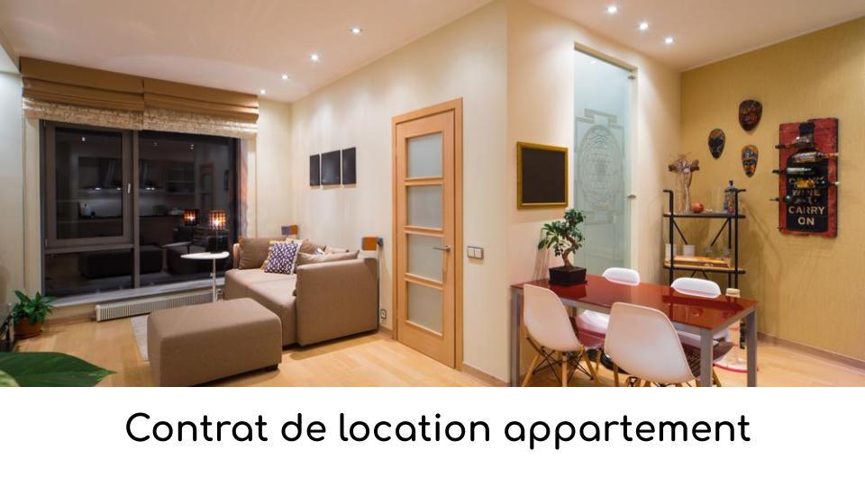 Contrat de location appartement