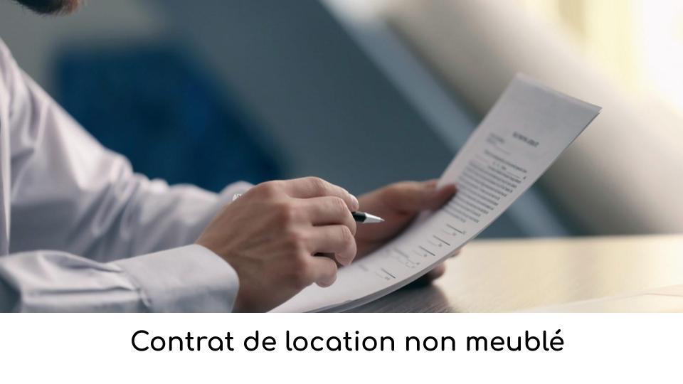 Contrat de location non meublé
