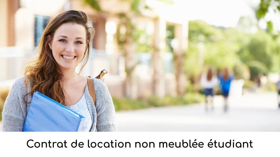 Contrat de location non meublée étudiant