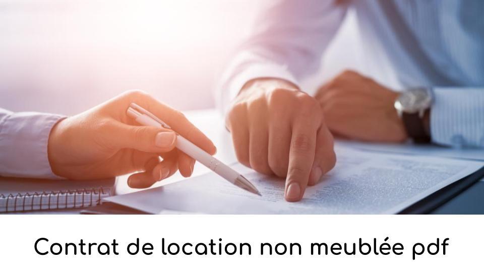Contrat de location non meublée pdf