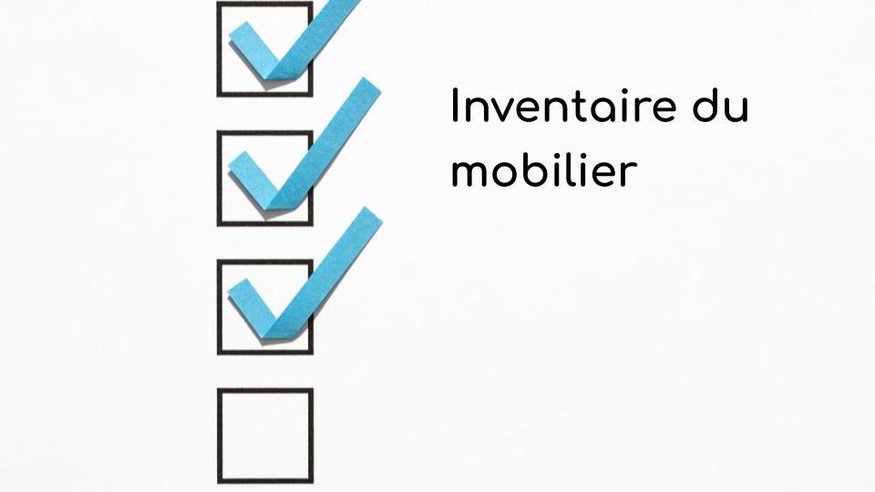 Inventaire du mobilier