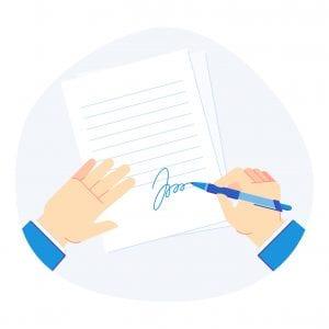 Signature de l'état des lieux