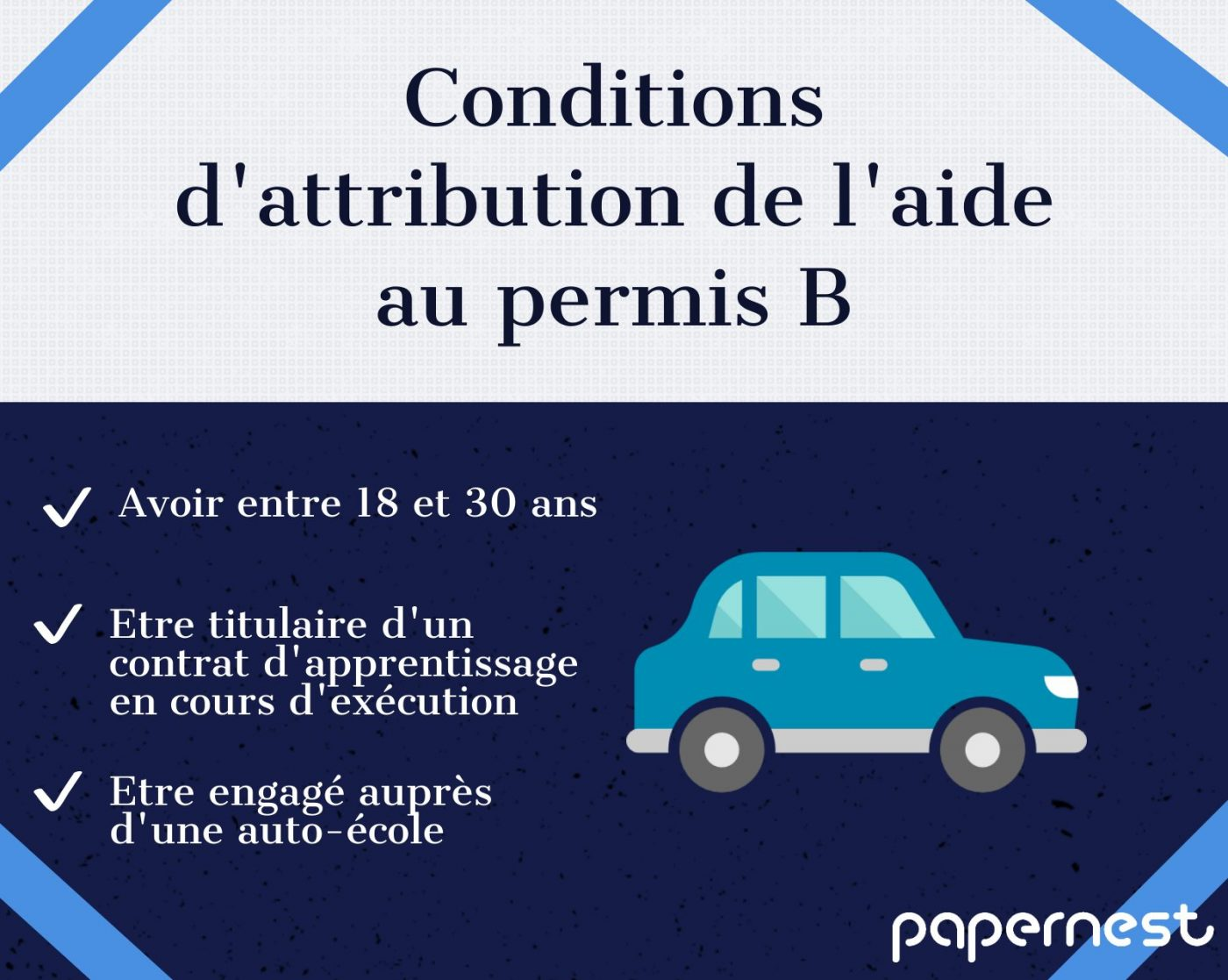 conditions attribution aide permis de conduire